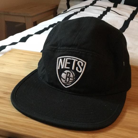 a11e898a Mitchell & Ness Brooklyn Nets 5 Panel Hat. M_5b8bec6604ef50405d0a87a7